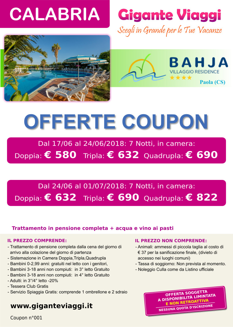 Villaggio Bahja coupon